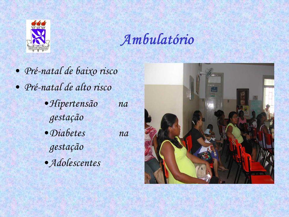Ambulatório Pré-natal de baixo risco Pré-natal de alto risco