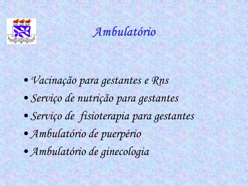 Ambulatório Vacinação para gestantes e Rns