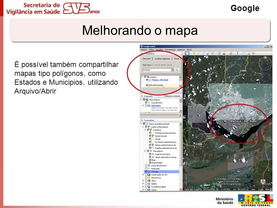 Melhorando o mapa Google