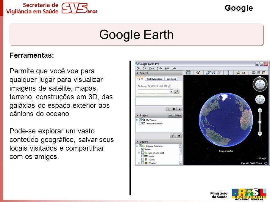 Google Earth Google Ferramentas:
