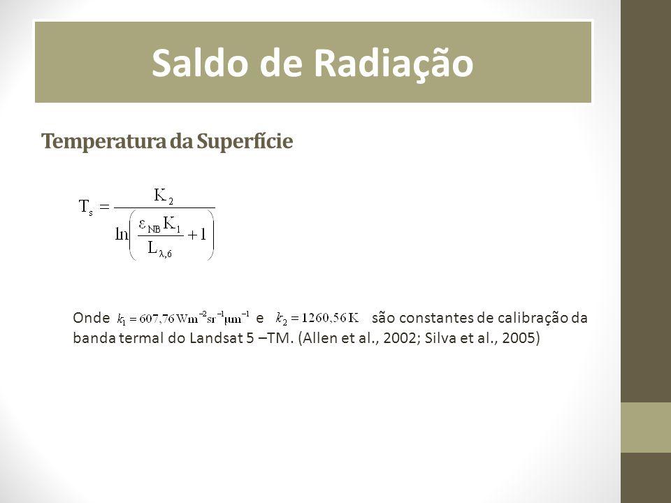 Saldo de Radiação Temperatura da Superfície