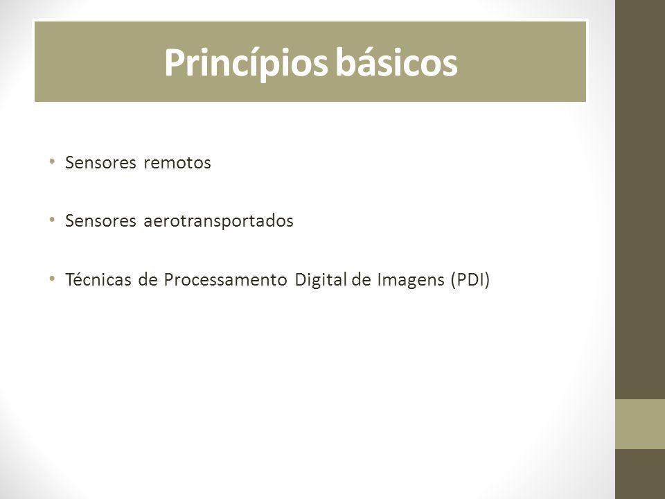 Princípios básicos Sensores remotos Sensores aerotransportados