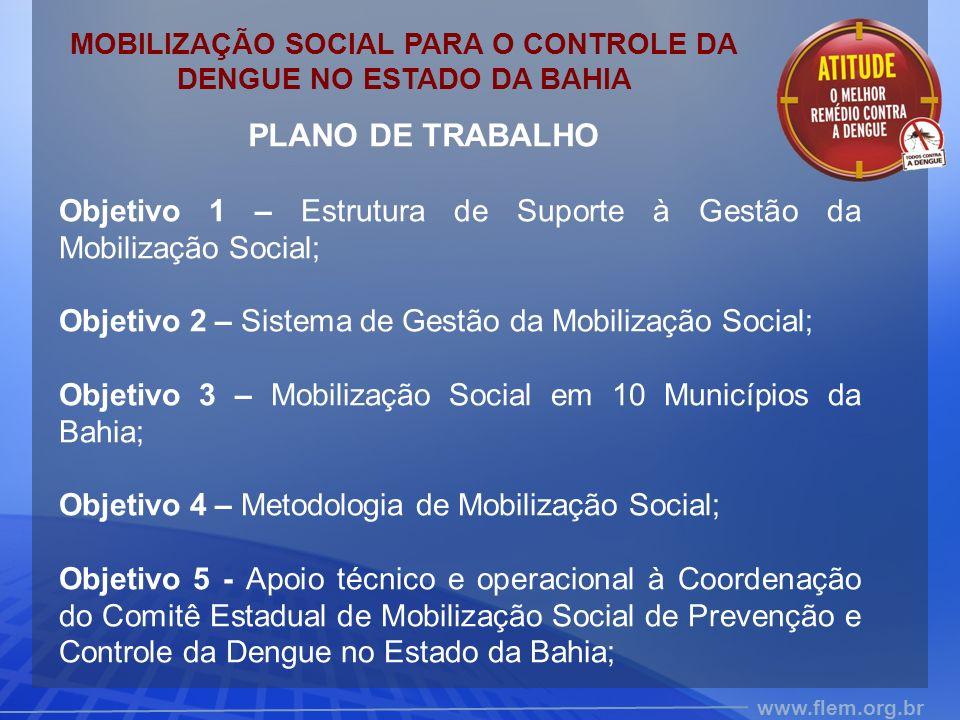 MOBILIZAÇÃO SOCIAL PARA O CONTROLE DA DENGUE NO ESTADO DA BAHIA