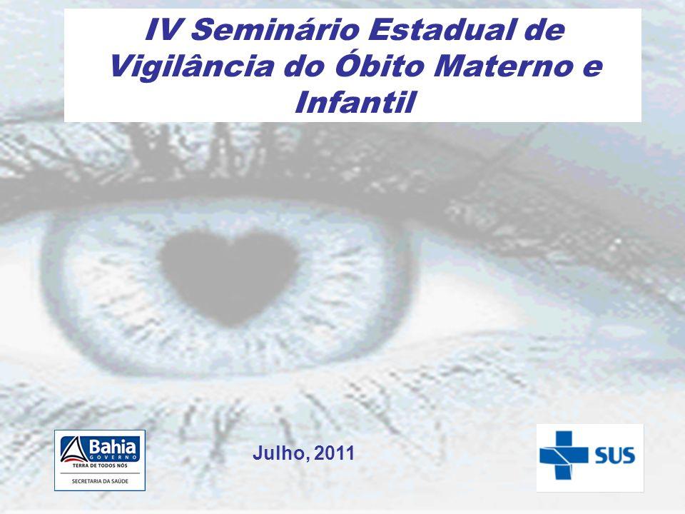 IV Seminário Estadual de Vigilância do Óbito Materno e Infantil