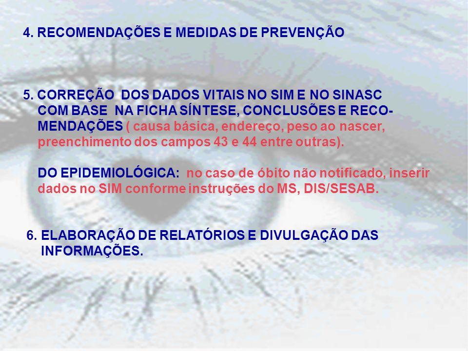4. RECOMENDAÇÕES E MEDIDAS DE PREVENÇÃO