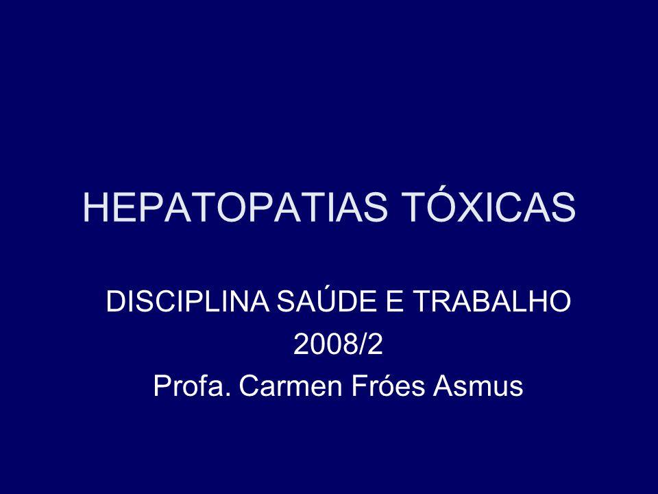 DISCIPLINA SAÚDE E TRABALHO 2008/2 Profa. Carmen Fróes Asmus
