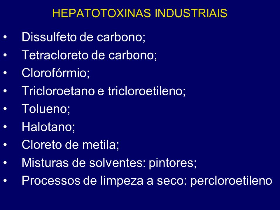 HEPATOTOXINAS INDUSTRIAIS