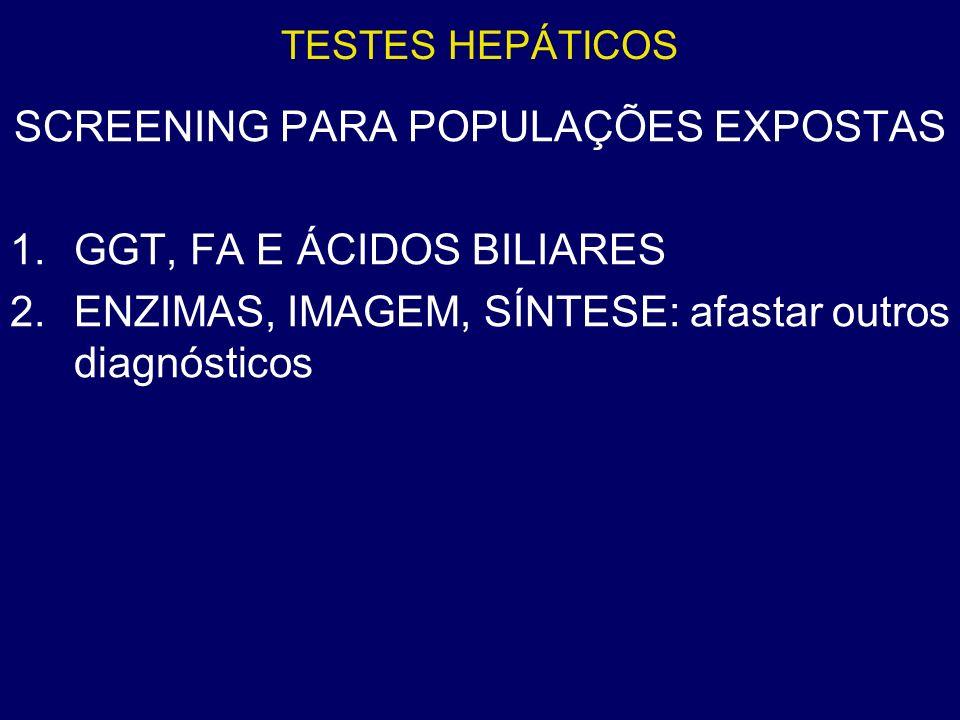 SCREENING PARA POPULAÇÕES EXPOSTAS