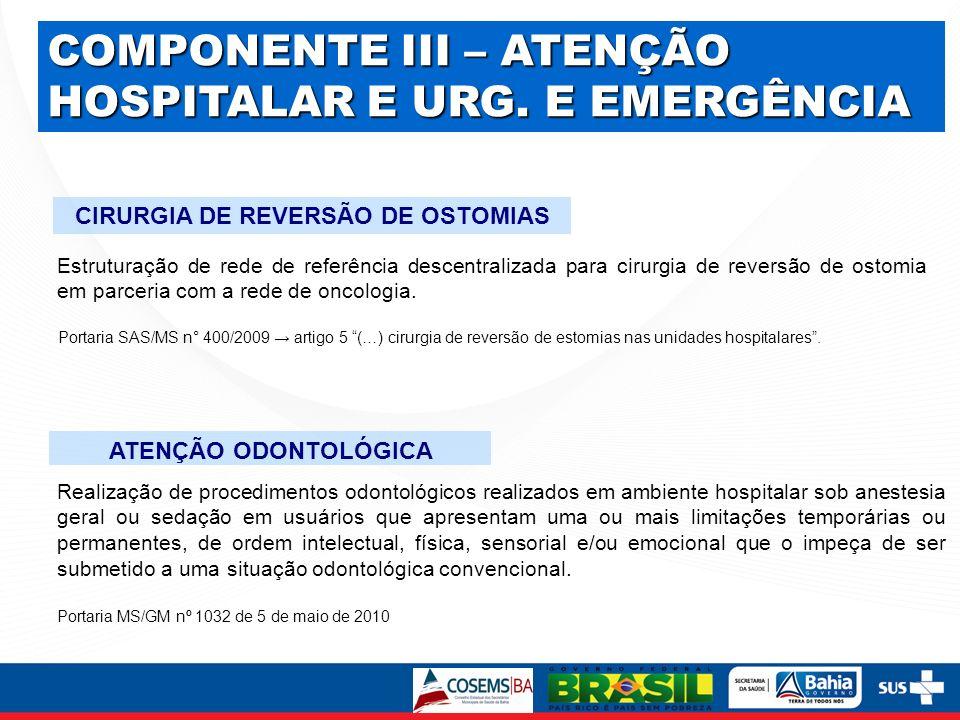 CIRURGIA DE REVERSÃO DE OSTOMIAS