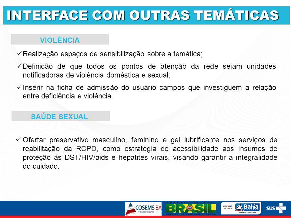 INTERFACE COM OUTRAS TEMÁTICAS