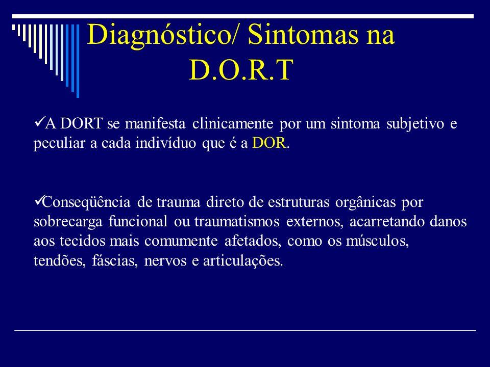 Diagnóstico/ Sintomas na D.O.R.T