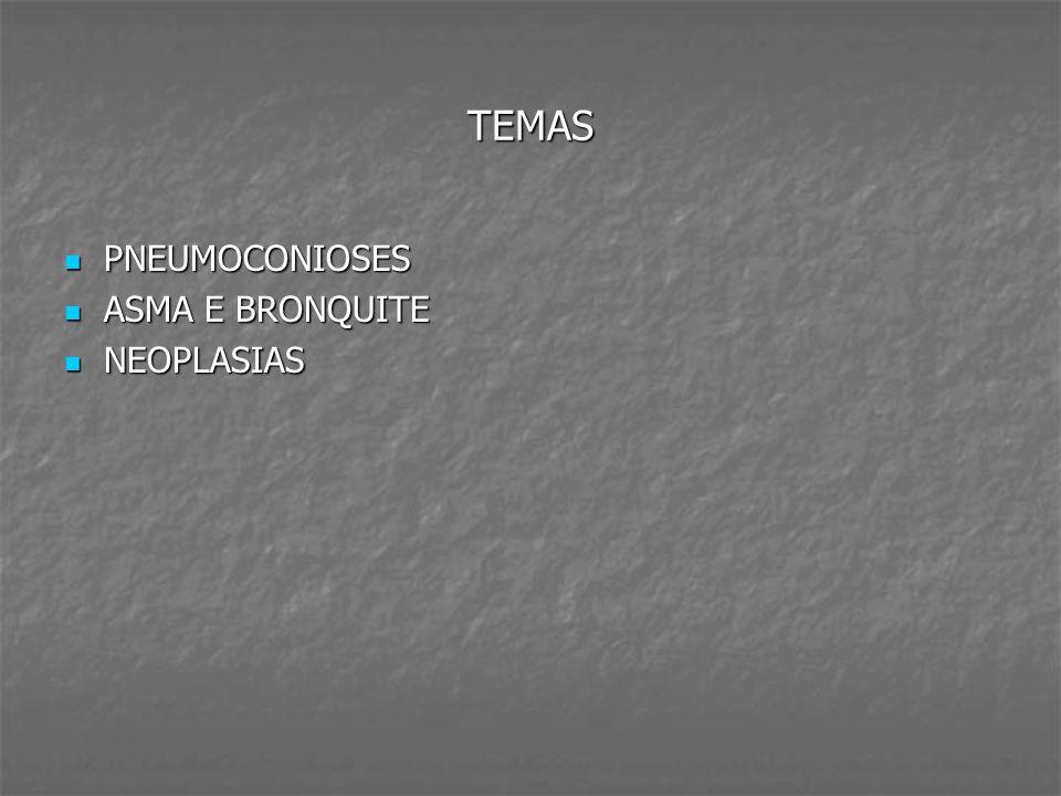 TEMAS PNEUMOCONIOSES ASMA E BRONQUITE NEOPLASIAS
