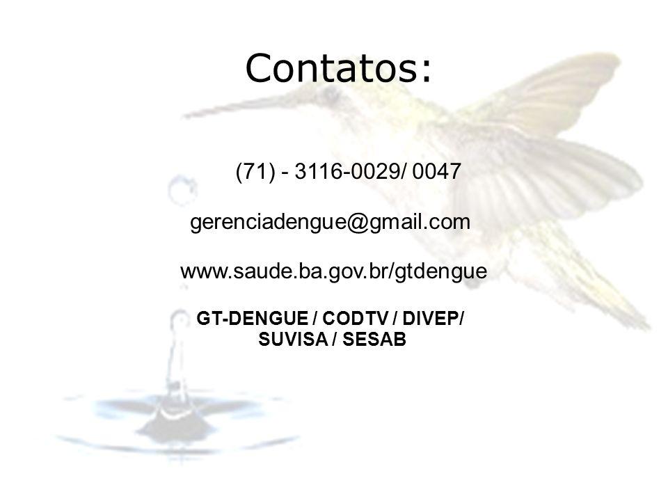 GT-DENGUE / CODTV / DIVEP/