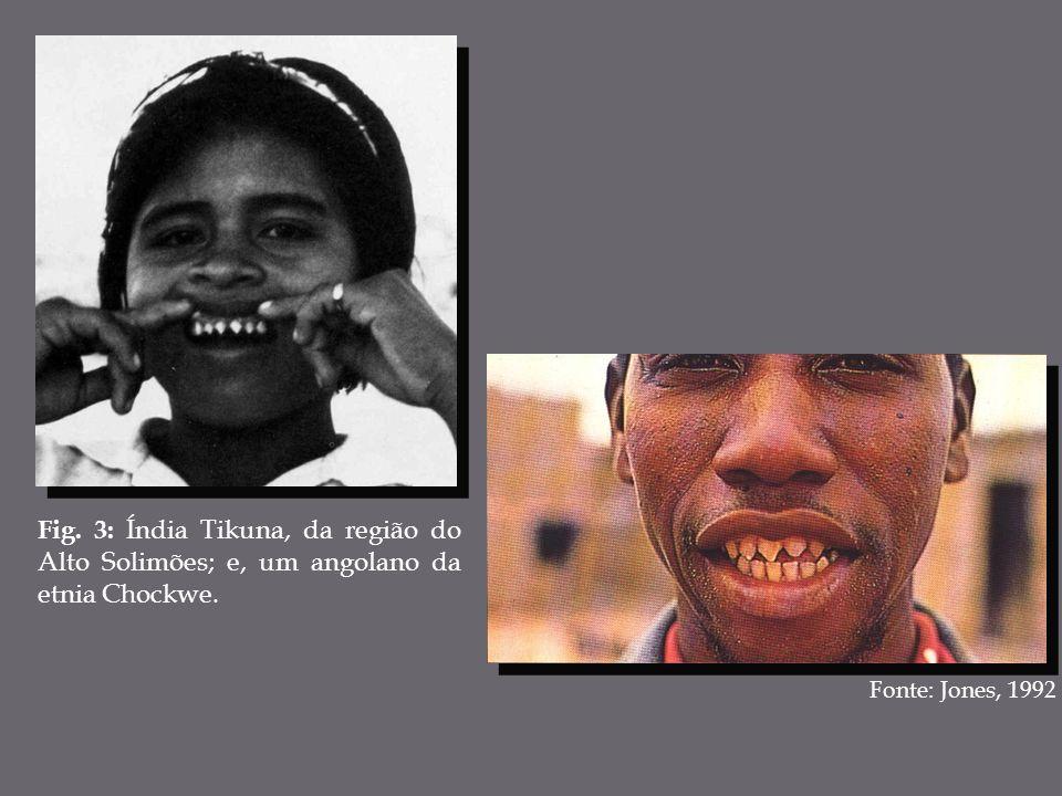 Fig. 3: Índia Tikuna, da região do Alto Solimões; e, um angolano da etnia Chockwe.