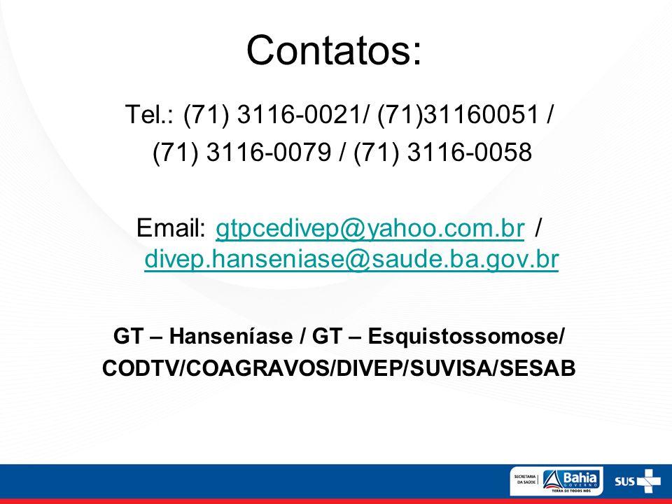 Contatos: Tel.: (71) 3116-0021/ (71)31160051 /