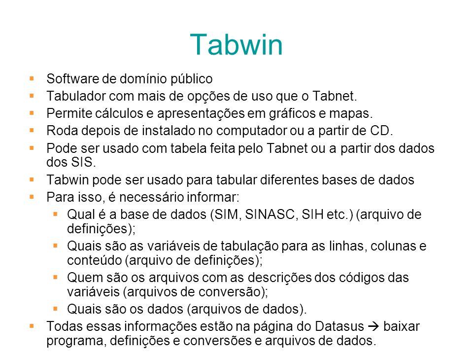Tabwin Software de domínio público