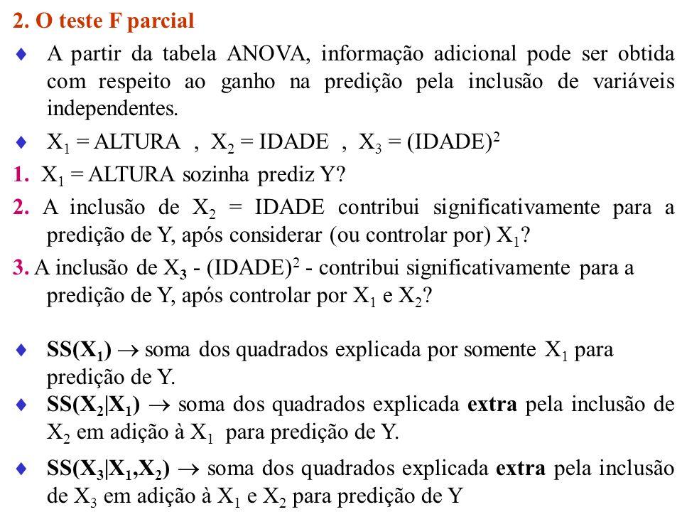 2. O teste F parcial