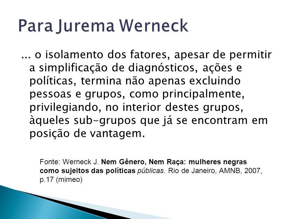 Para Jurema Werneck