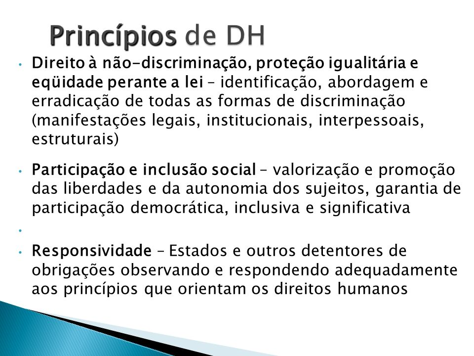 Princípios de DH