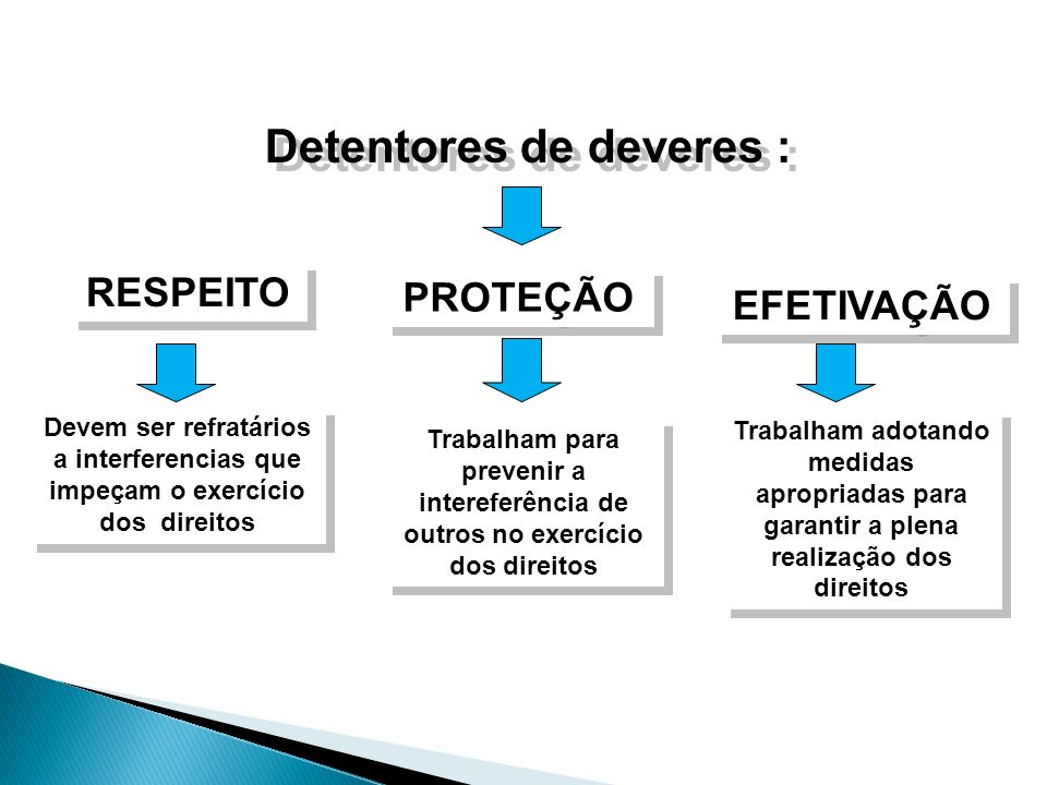 Detentores de deveres :