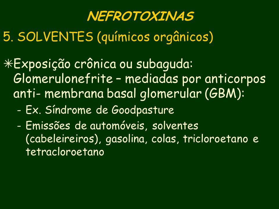 5. SOLVENTES (químicos orgânicos)
