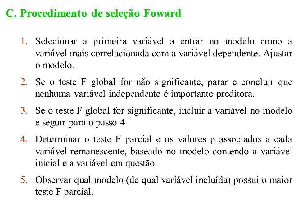C. Procedimento de seleção Foward