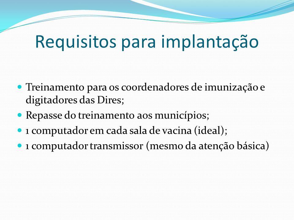 Requisitos para implantação