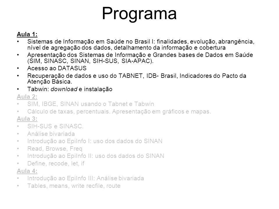 Programa Aula 1: