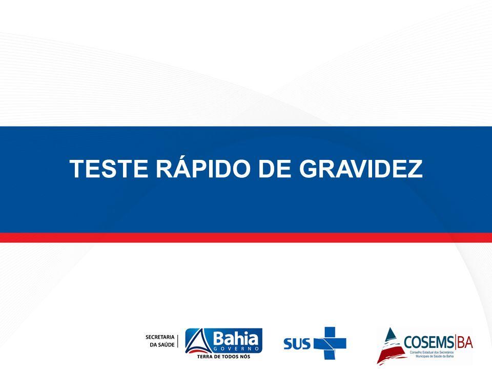 TESTE RÁPIDO DE GRAVIDEZ