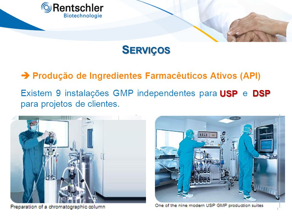 Serviços  Produção de Ingredientes Farmacêuticos Ativos (API)