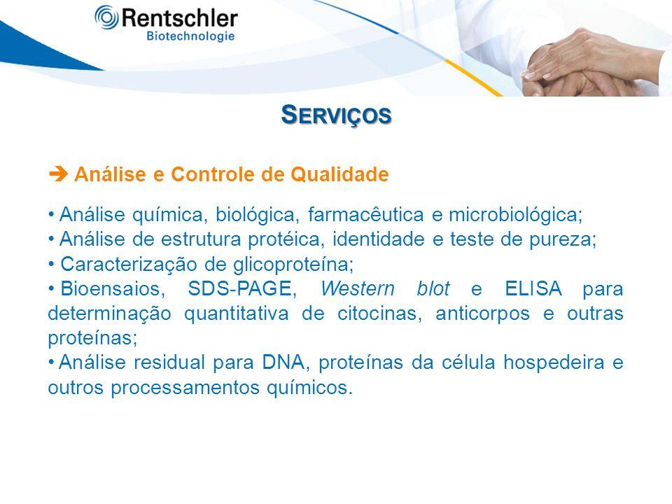 Serviços  Análise e Controle de Qualidade