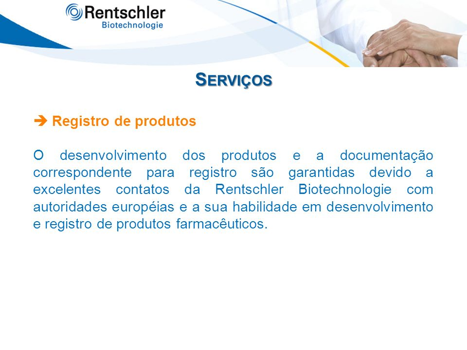 Serviços  Registro de produtos