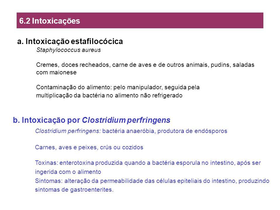 a. Intoxicação estafilocócica