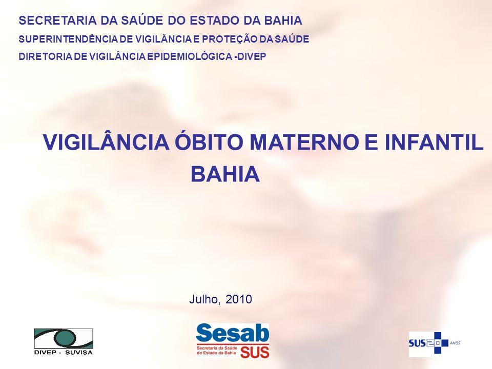 VIGILÂNCIA ÓBITO MATERNO E INFANTIL BAHIA