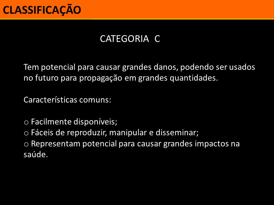 CLASSIFICAÇÃO CATEGORIA C