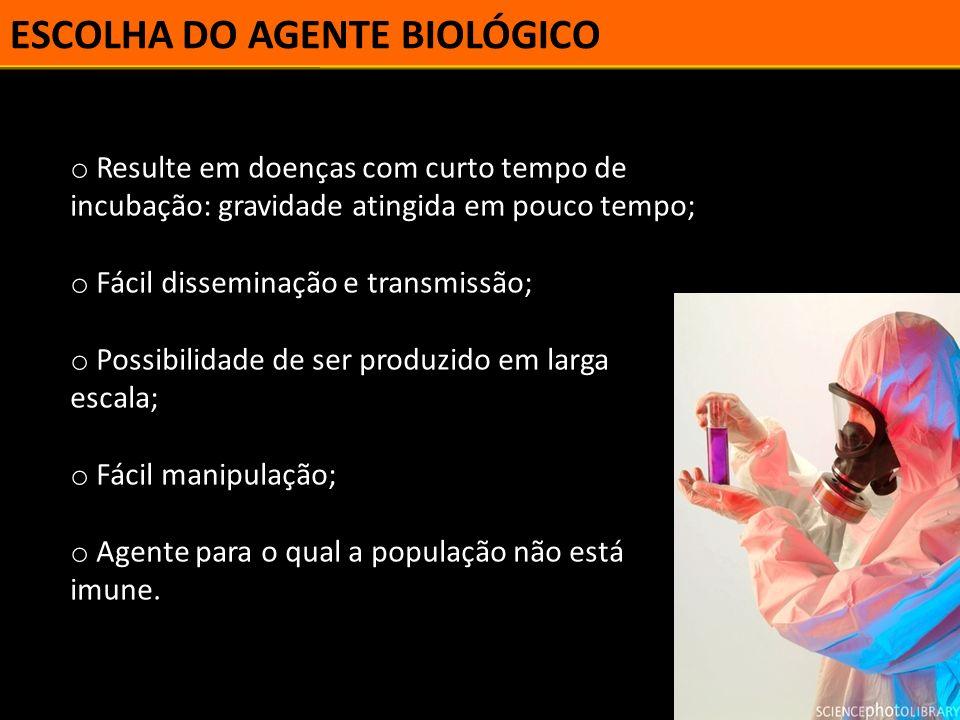 ESCOLHA DO AGENTE BIOLÓGICO
