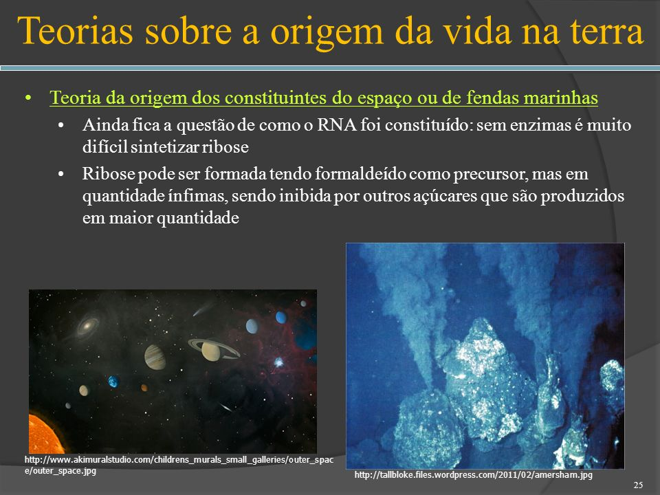 Teorias sobre a origem da vida na terra