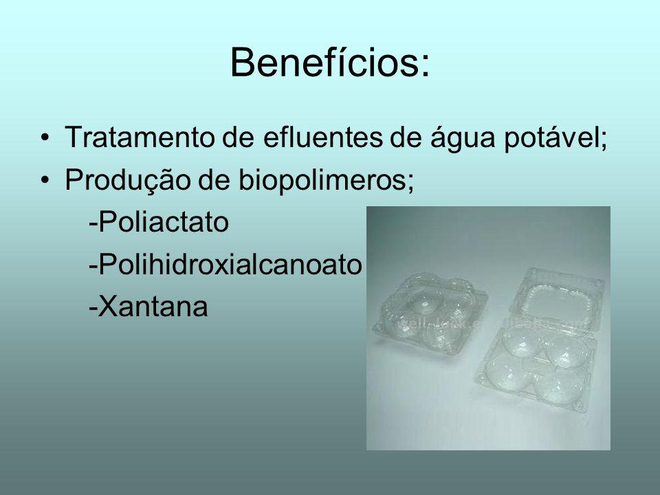 Benefícios: Tratamento de efluentes de água potável;