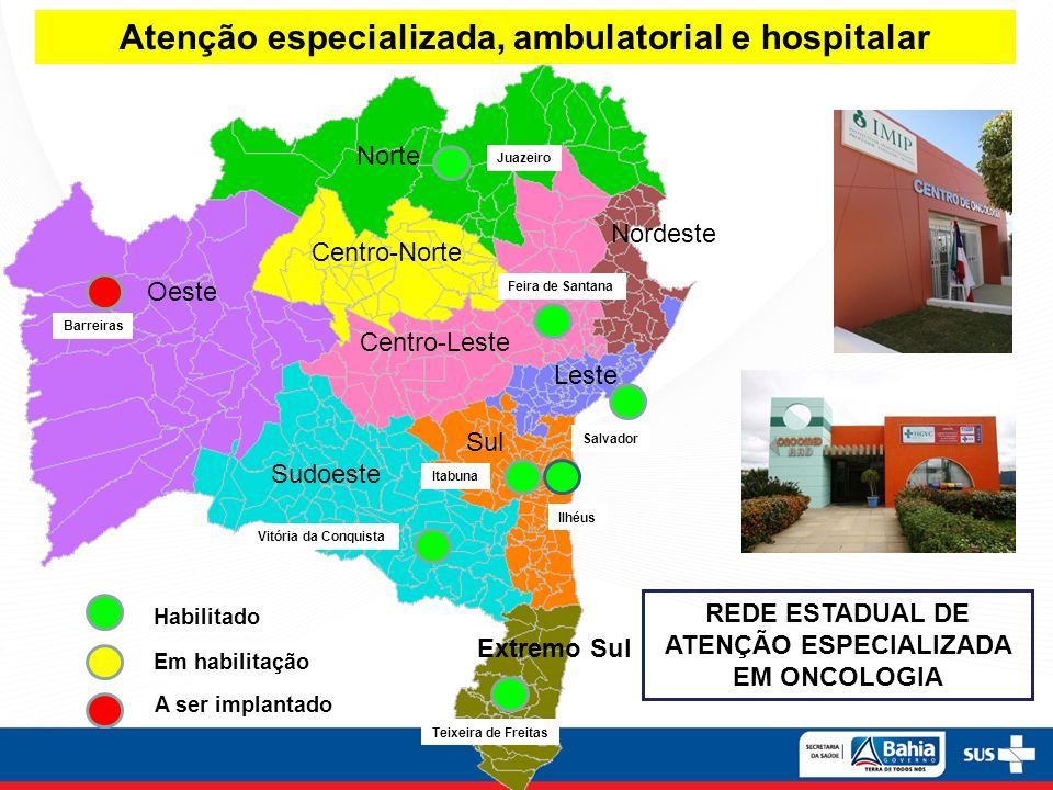 Atenção especializada, ambulatorial e hospitalar