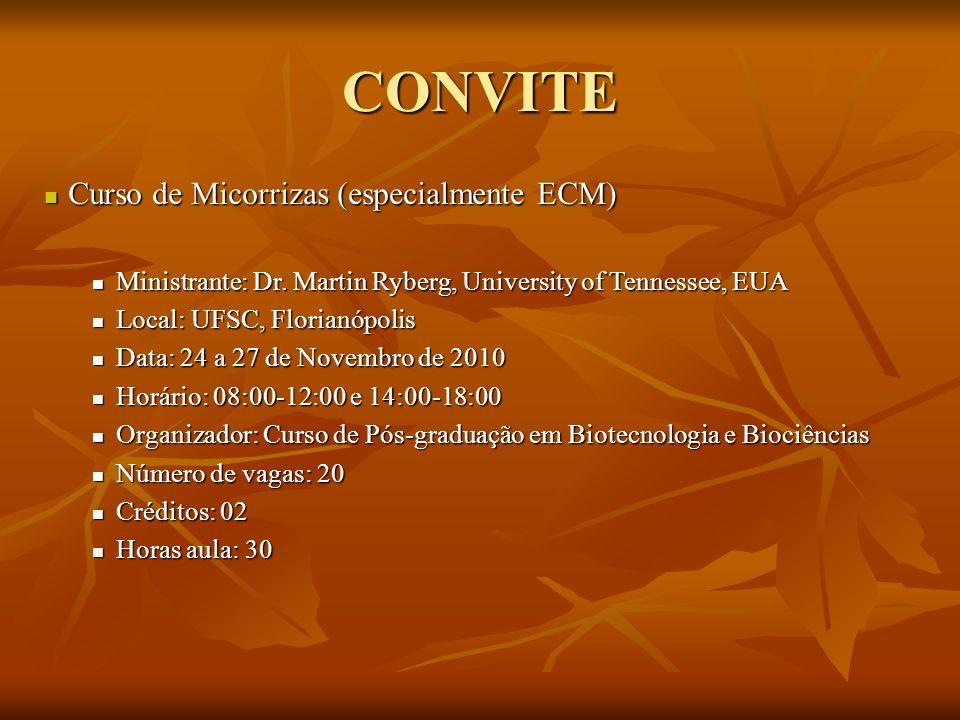 CONVITE Curso de Micorrizas (especialmente ECM)