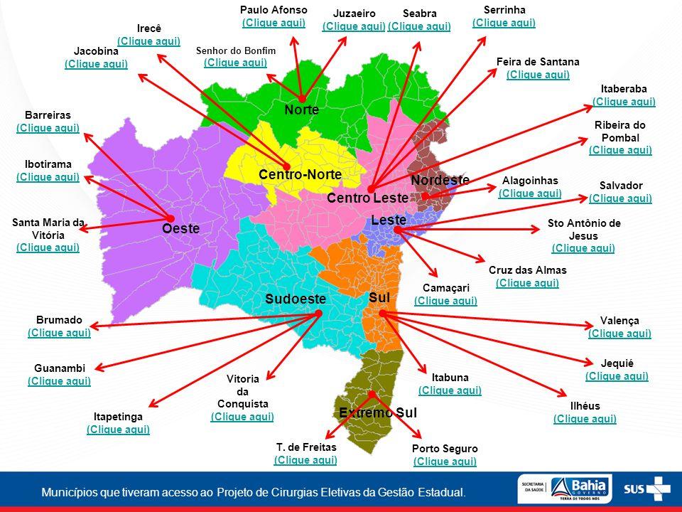 Norte Centro-Norte Nordeste Centro Leste Leste Oeste Sudoeste Sul