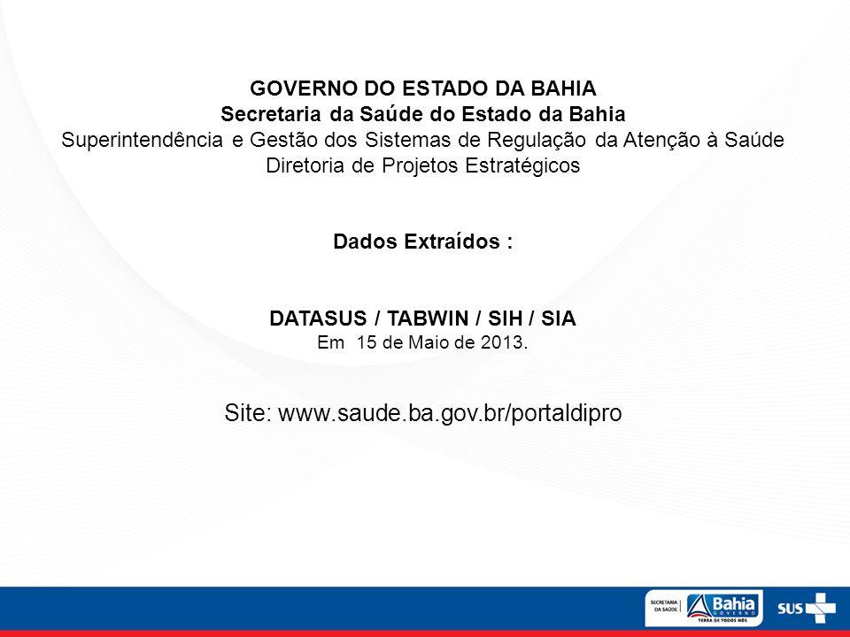 Site: www.saude.ba.gov.br/portaldipro
