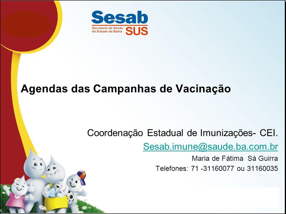 Agendas das Campanhas de Vacinação