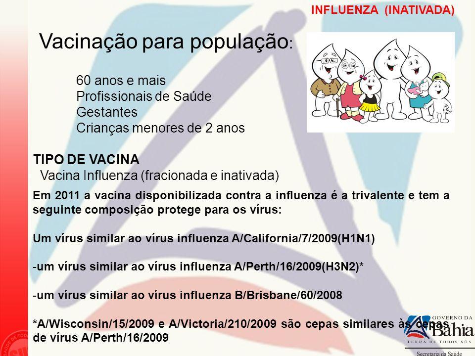 Vacinação para população: