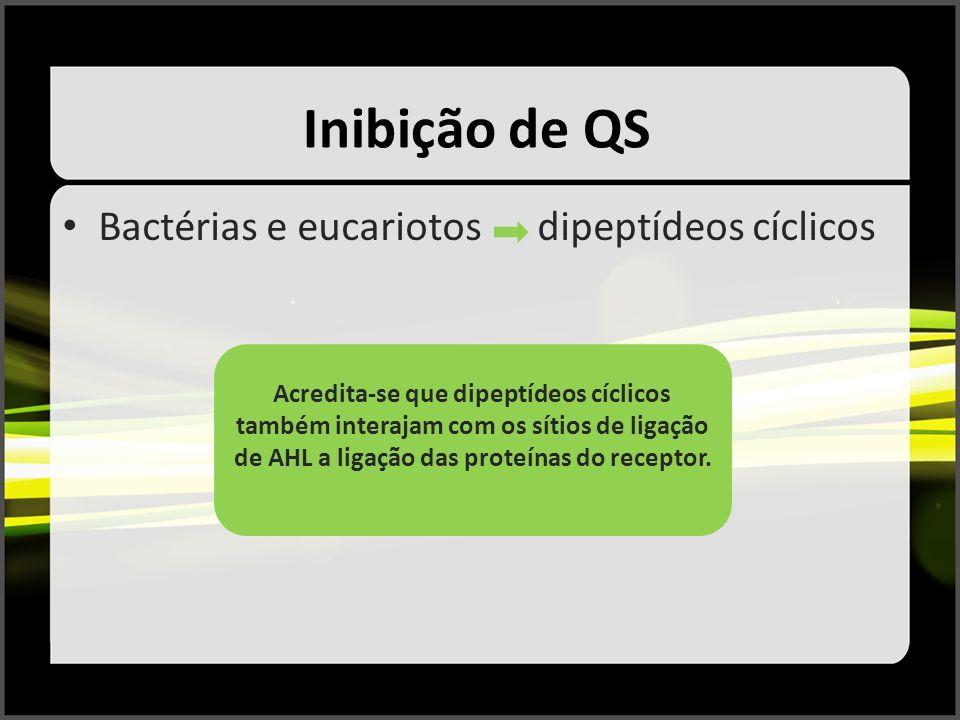 Inibição de QS Bactérias e eucariotos dipeptídeos cíclicos