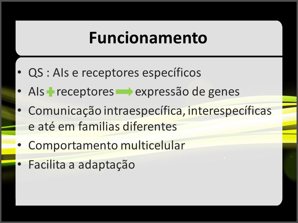Funcionamento QS : AIs e receptores específicos