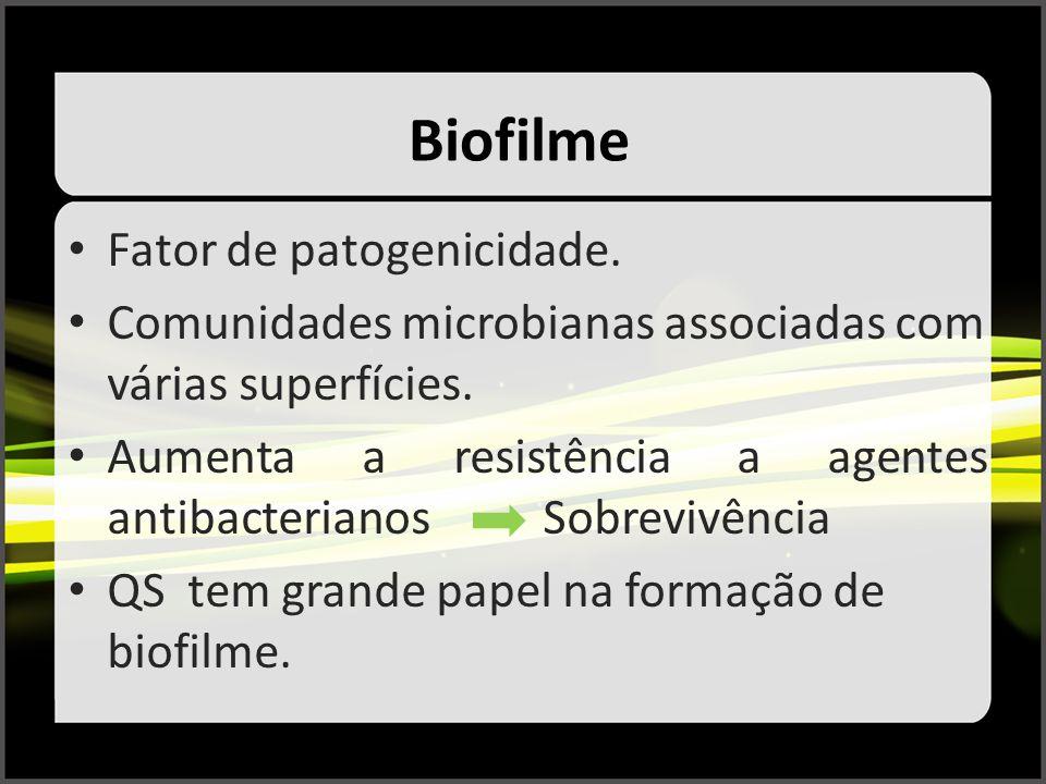 Biofilme Fator de patogenicidade.