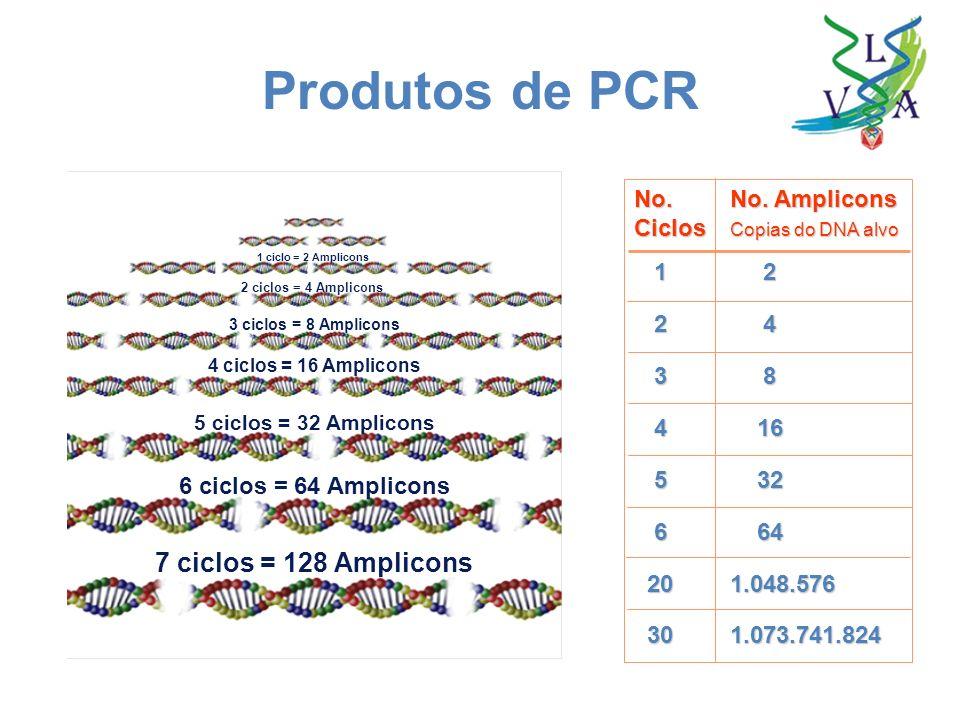 Produtos de PCR 7 ciclos = 128 Amplicons