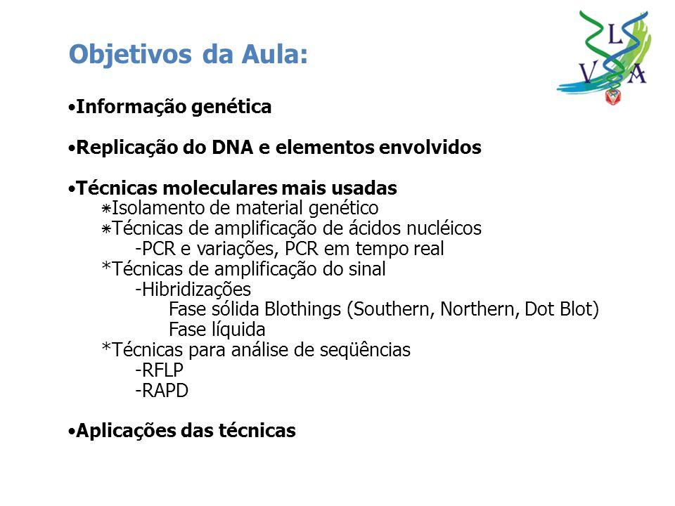 Objetivos da Aula: Informação genética