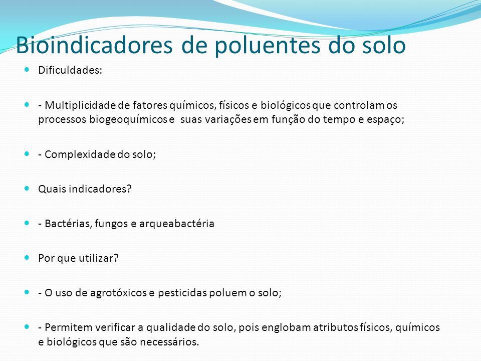 Bioindicadores de poluentes do solo
